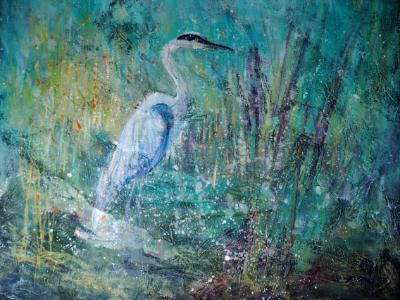 Patient Heron Giclee print